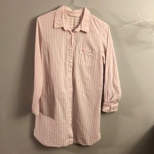 Victoria Secret button down sleep shirt